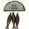 Handcrafted Gone Fishing Sign With Fish