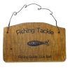 Handcrafted Wood Fishing Tackle Guide Bait Sign