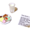 Cookies and Milk and Readable Note for Santa