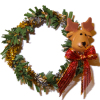 Decorated Christmas Wreath With Reindeer and Bow