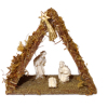 Handcrafted Nativity Creche Scene