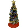 Decorated Traditional Christmas Tree Gold Garland