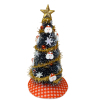 Decorated Santa Claus Christmas Tree With Gold Garland