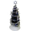 Decorated Hannukah Tree with Star of David Topper