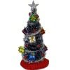 Decorated Gift Package Christmas Tree With Silver Garland