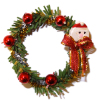 Decorated Christmas Wreath With Santa Claus and Bow