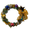 Traditional Christmas Wreath with Ornaments