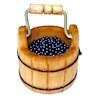 Sir Thomas Thumb Wood Berry Bucket with Blueberries