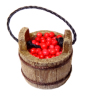 Sir Thomas Thumb Wood Berry Bucket with Red Berries