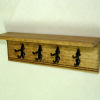 Sir Thomas Thumb Hand Crafted Wood Shelf with Coat Rack Hooks
