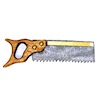 Sir Thomas Thumb Handcrafted Metal and Wood Back Saw