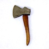 Sir Thomas Thumb Handcrafted Metal and Wood Felling Hatchet