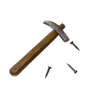 Sir Thomas Thumb Hand Crafted Claw Hammer and Nails Set