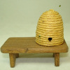 Sir Thomas Thumb Handcrafted Busy Beehive on Wood Bench