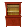 Sir Thomas Thumb Red Country Cupboard Hutch