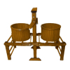 Sir Thomas Thumb Antique Style Wood Wringer Washer and Tubs