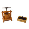 Sir Thomas Thumb Handcrafted Wood Wine Grape Press Set
