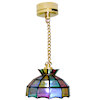 Lighting Faux Stained Glass Ceiling Lamp - Battery Operated