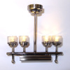 Battery Operated Working Modern Four Light Chandelier