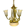 Battery LED Lighting Tulip Shade Ceiling Chandelier with Globe