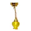 Lighting Hanging Pendant Lamp with Yellow Shade Battery Operated