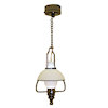 Working Hanging General Store Lamp - Warm White Battery Operated