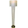 Working Drum Shade Brushed Brass Finish Floor Lamp - Battery Op