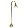 Battery Operated Brass Floor Lamp Scallop Shade