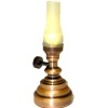Working Frosted Shade Hurricane Lamp - Battery Operated
