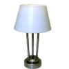Working Contemporary Platinum Finish Table Lamp - Battery Op
