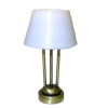 Working Modern Table Lamp -Battery Op Brushed Brass Finish