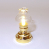 Working Brass Flared Globe Table Lamp or Ceiling Lamp-Battery Op
