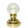 Working Brass Globe Table Lamp or Ceiling Lamp - Battery Op