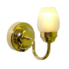 Battery Operated Lighting Wall Sconce White Shade