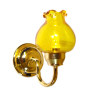 Lighting Wall Sconce with Yellow Shade - Battery Operated