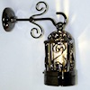 Working Black Hanging Coach Lamp - Battery Operated