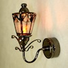 Ornate Black Working Coach Lamp - Amber Bulb - Battery Operated