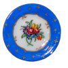 Christopher Whitford Handpainted Blue Floral Porcelain Plate