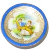 Christopher Whitford Handpaint Victorian Couple Porcelain Plate