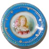 Christopher Whitford Handpainted Victorian Lady Porcelain Plate