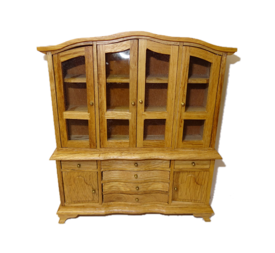 Oak China Display Cabinet