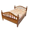 Early American Colonial Walnut Double Bed
