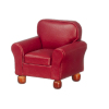 Burgundy Leather Comfy Chair