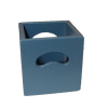 Miniature Wood Storage Crate - Blue