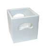 Miniature Wood Storage Crate - White