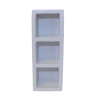 Miniature White 3 Slot Storage Unit