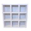 Miniature White 9 Slot Storage Unit
