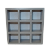 Miniature Gray 9 Slot Storage Unit