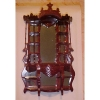 Ornate Victorian Mahogany Mirrored Etagere