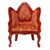 Upholstered Victorian Heart Armchair